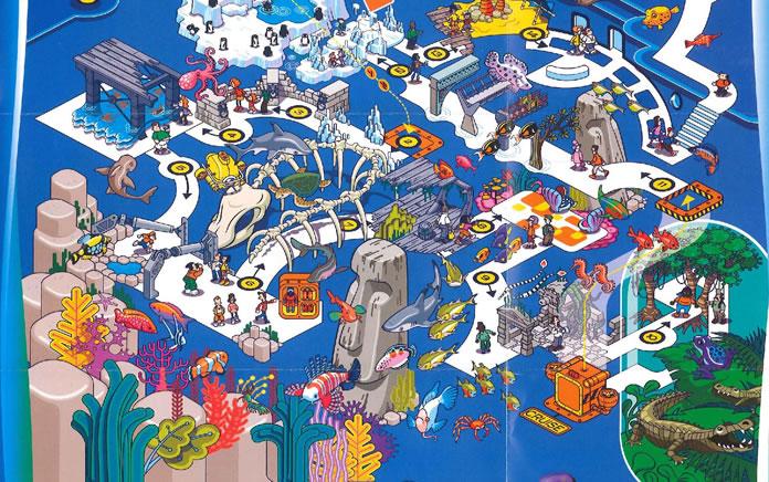 mappa acquario di londra